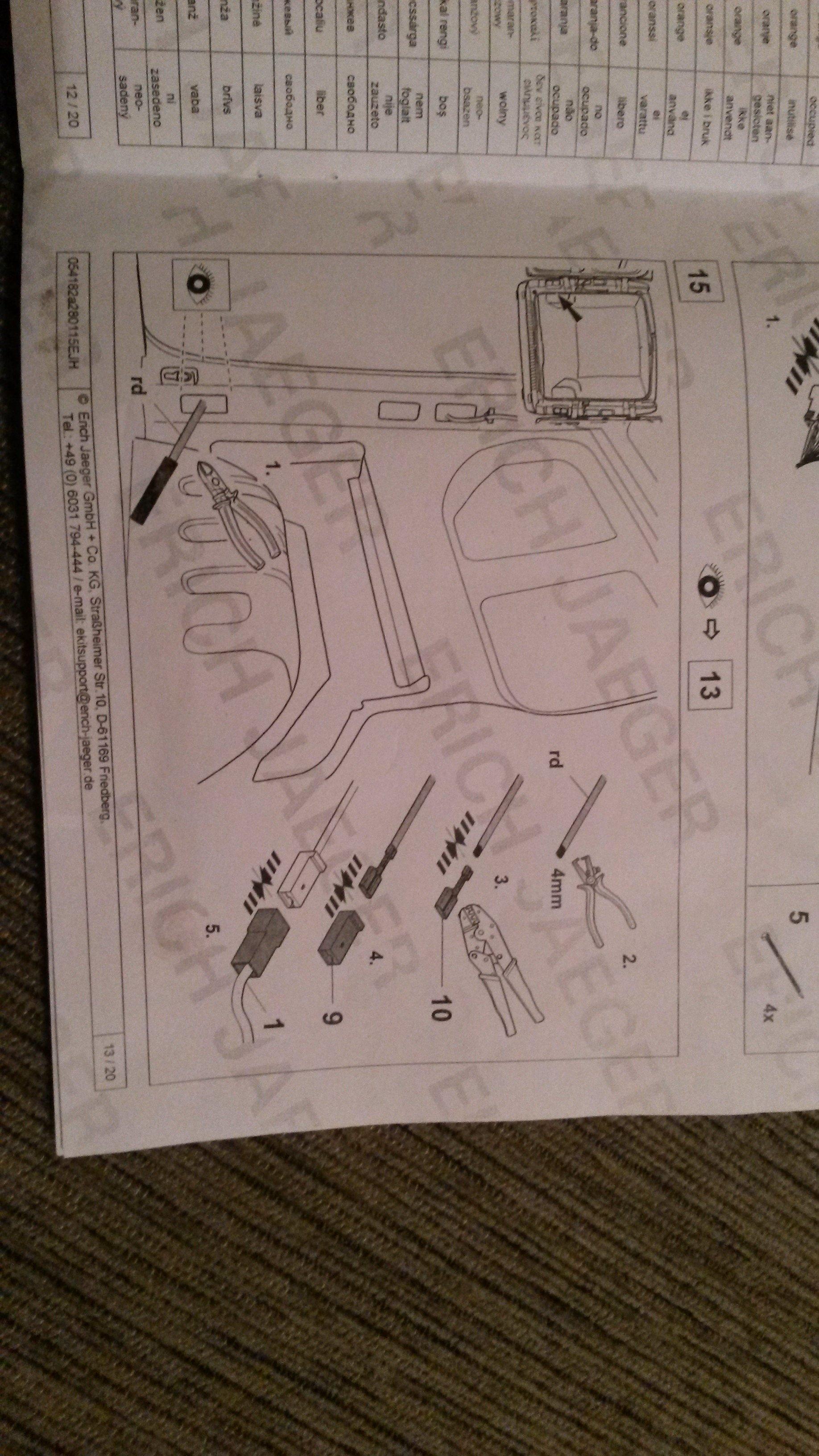 Towbar Wiring Diagram Renault Trafic
