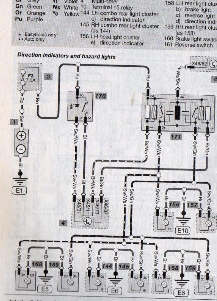 Corsa C Drivers Indicators, Corsa C Ignition Switch Wiring Diagram